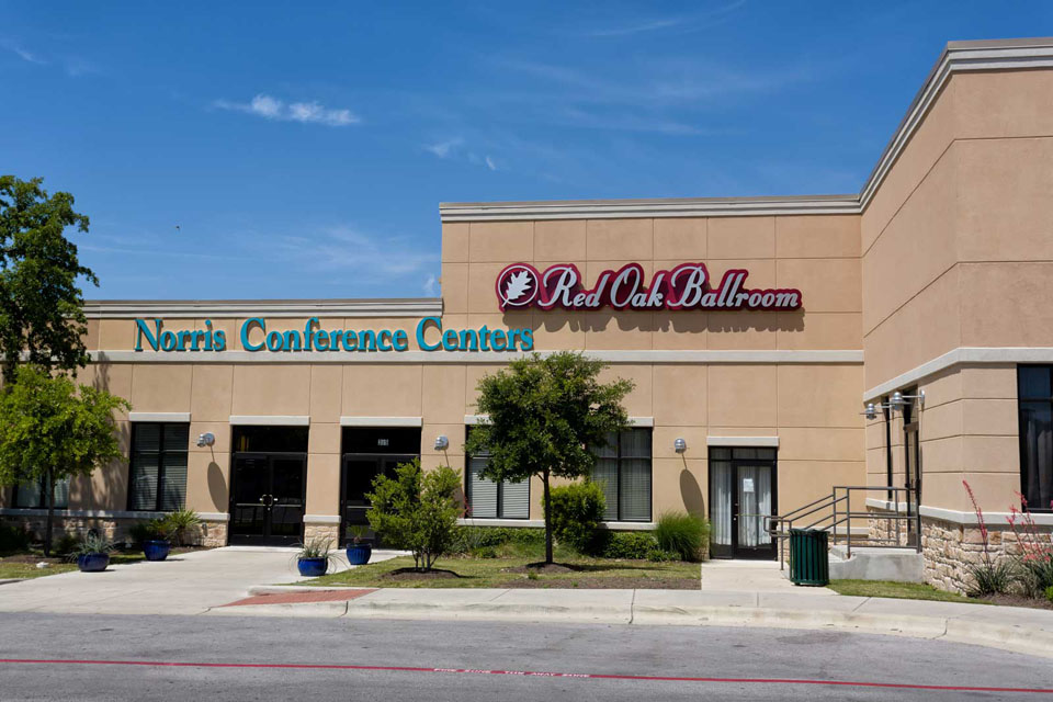 Front Entry of the Norris Centers in Austin