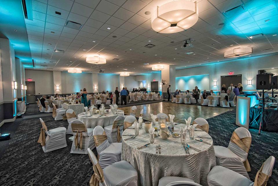 Wedding Celebration setup in San Antonio Red Oak Ballroom A