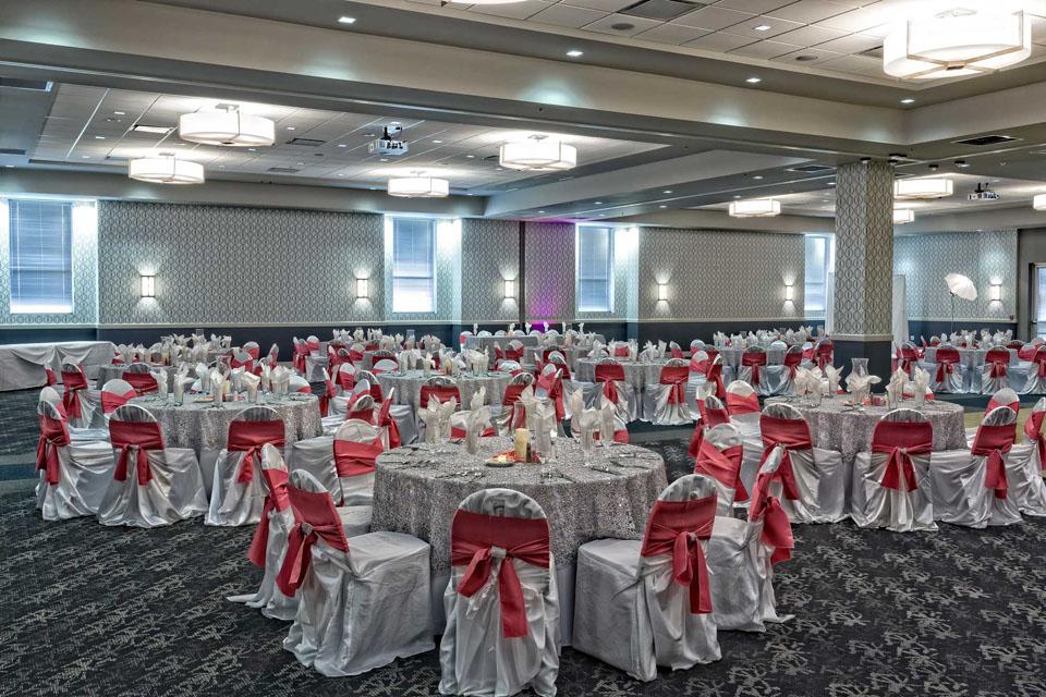 San Antonio Red Oak Ballroom Social setup