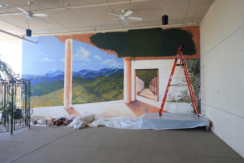 Norris Centers in San Antonio, New Patio Mural
