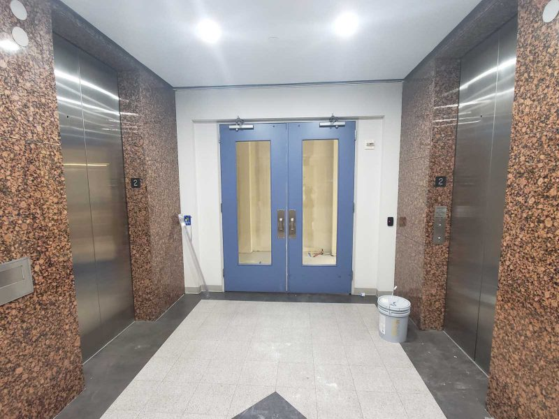Norris Centers Dallas facility entry from elevators
