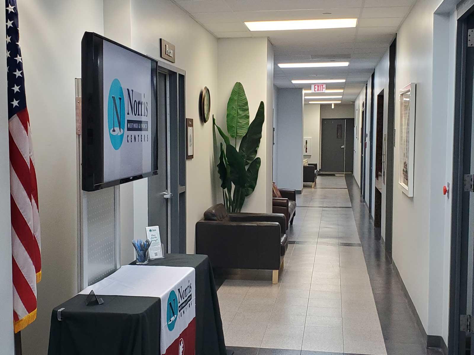 Norris Centers Dallas facility hallway