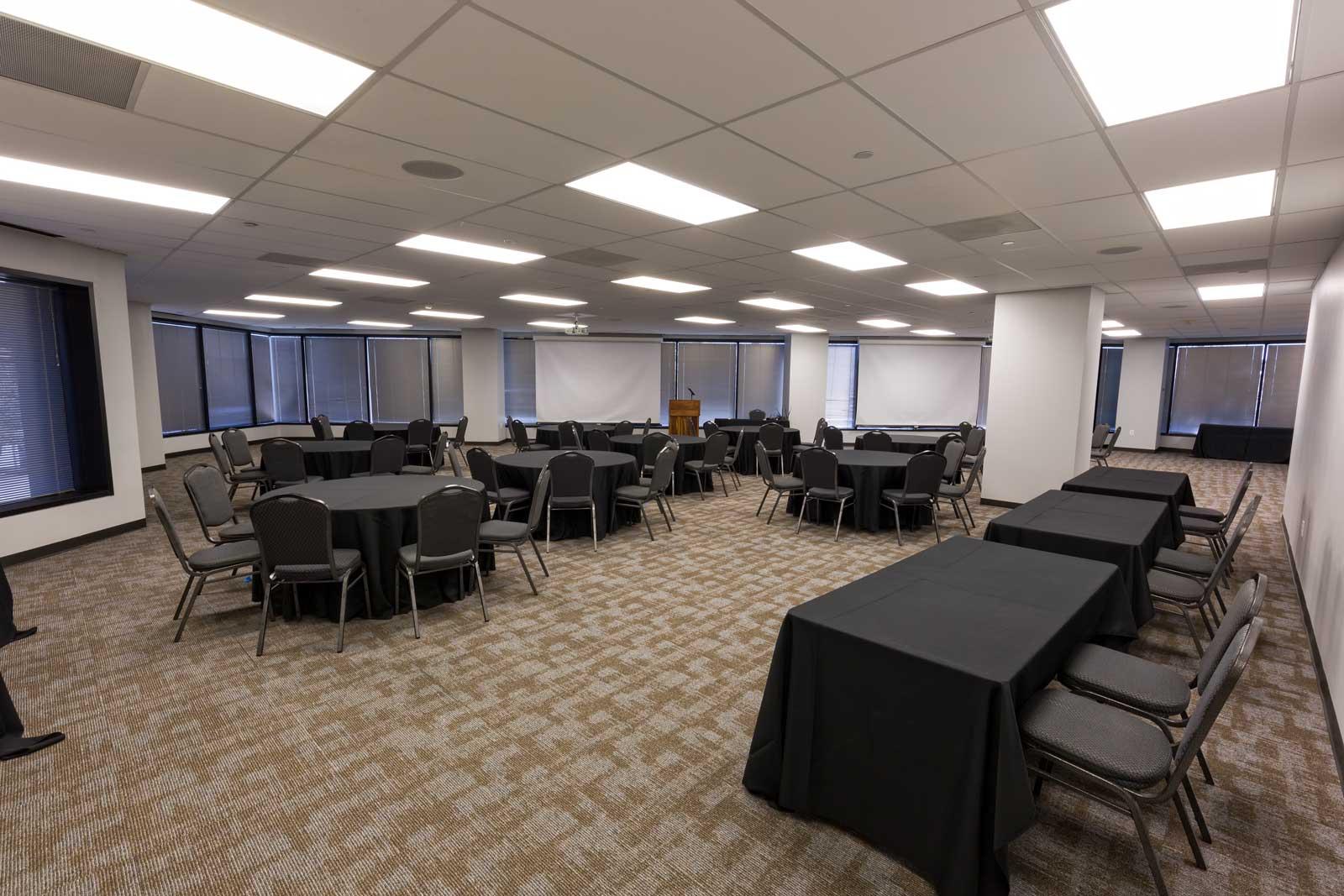 Norris Centers Dallas, Magnolia Room, Set in Crescent Rounds