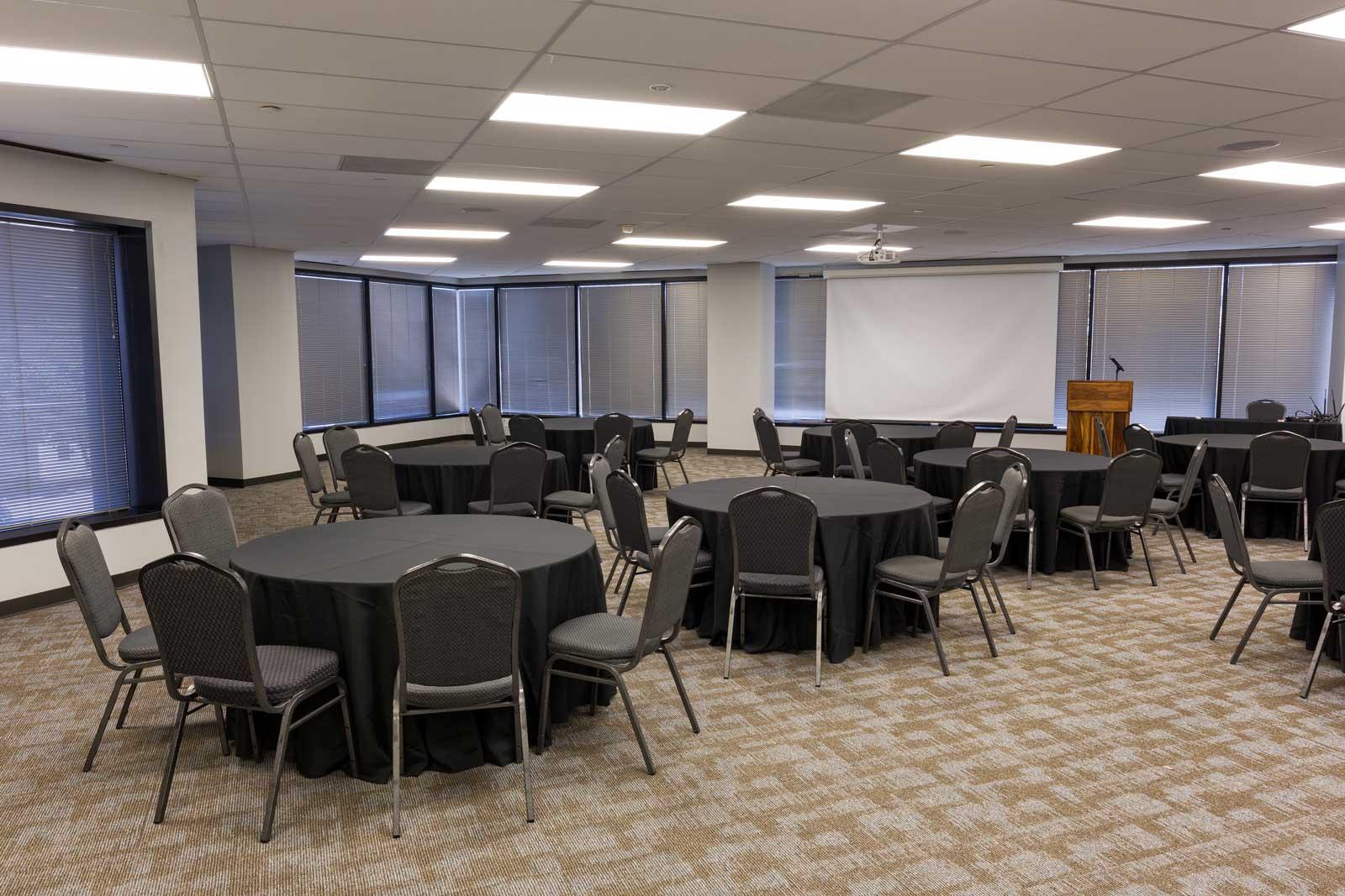 Norris Centers Dallas, Magnolia Room, Set Crescent Style