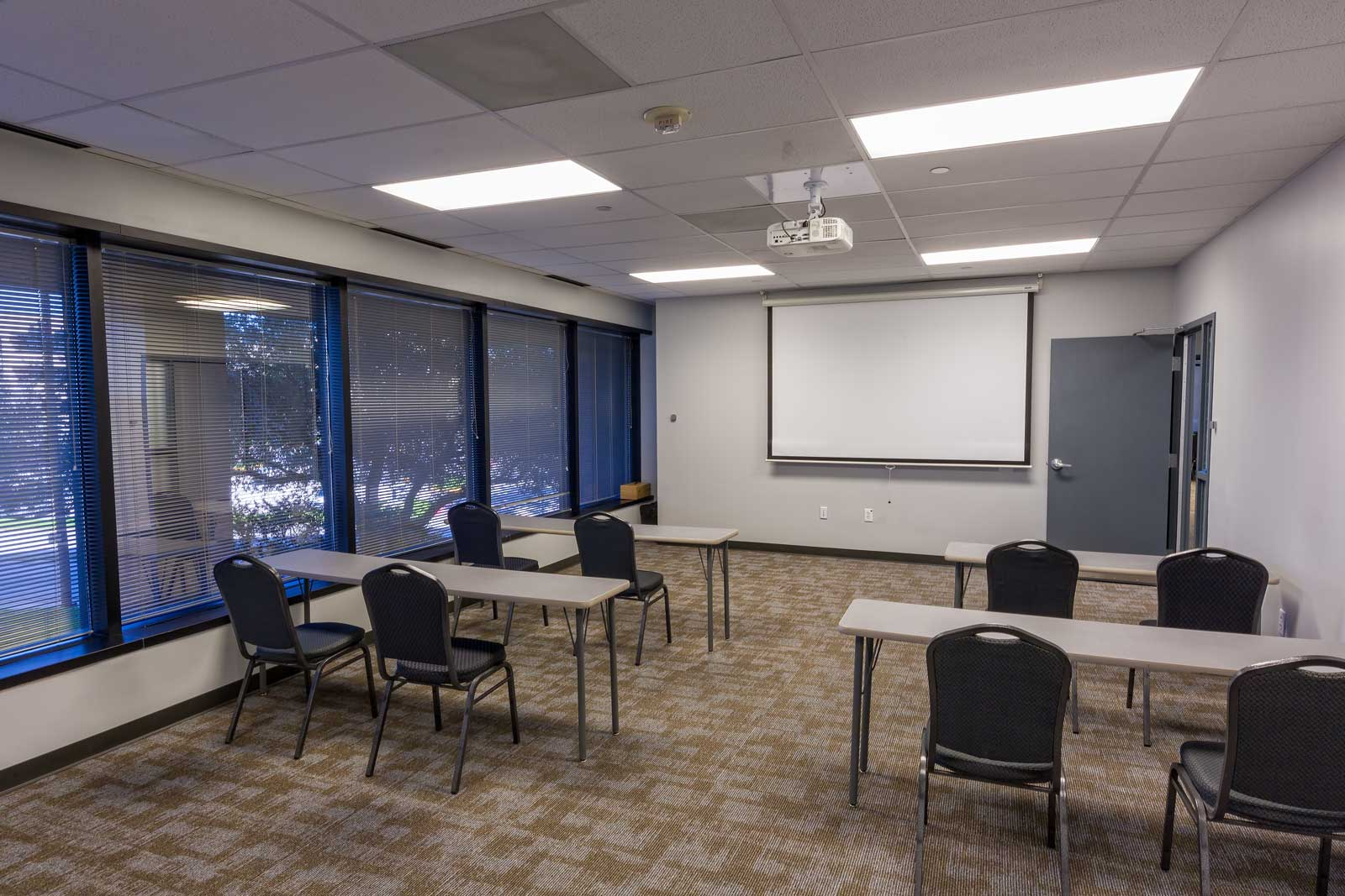 Norris Centers Dallas, Sage Room, Set Hard Top Classroom Style