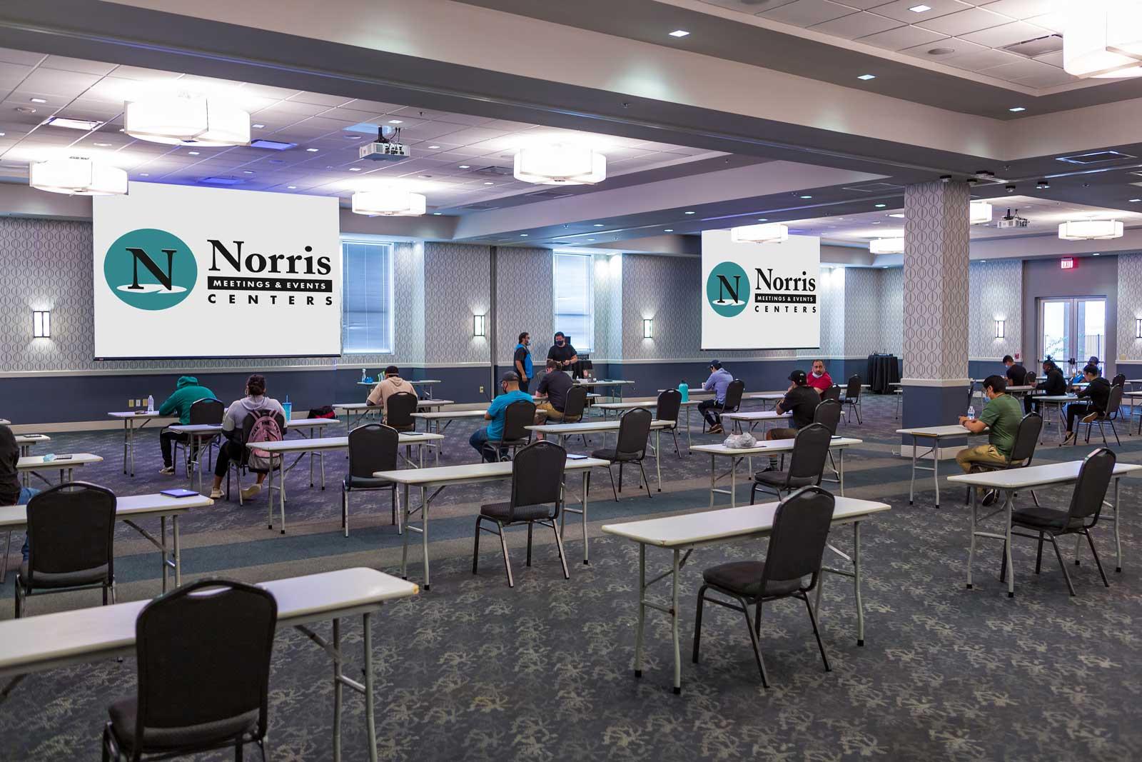 Norris Centers San Antonio, Classroom set for Social Distancing