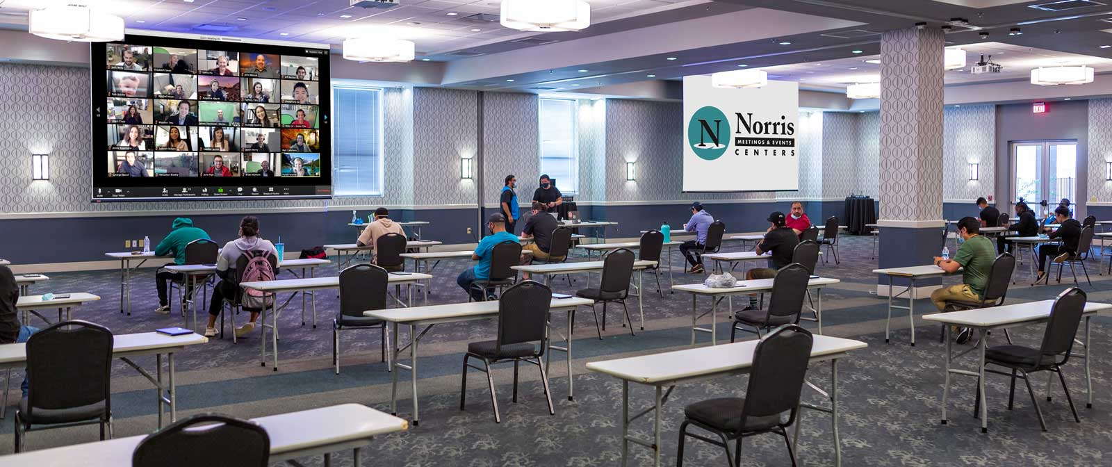 Norris Centers, Zoom and Hybrid Meeting for COVID-19