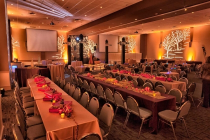 Fabulous Holiday Party in Gold and Red, Corporate Socials at the Red Oak Ballroom in Austin