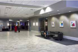 Spacious foyer at Norris Conference Centers San Antonio to represent the contact information for this location.