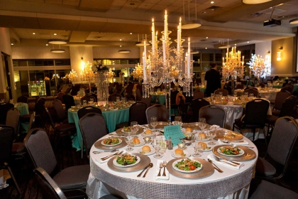 Red Oak Ballroom Houston CityCentre Special Celebration with optional candelabras