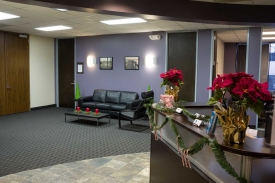 Norris Centers Houston Westchase updated lobby during the holidays