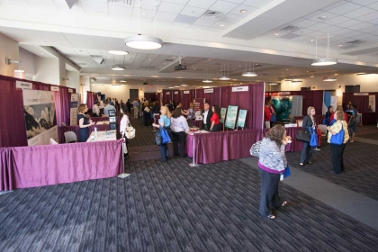 A Booth setup for an Expo, Norris Centers, Houston CityCentre